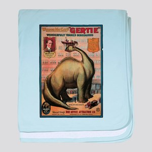 Gertie the Dinosaur Paleo baby blanket