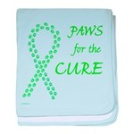 Lime Paws Cure baby blanket