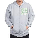 Green Paws4Cure Zip Hoodie