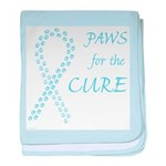 Lt. Blue Paws4Cure baby blanket