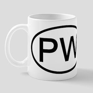 Palau - PW - US Oval Mug