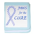 Periwinkle Paws4Cure baby blanket