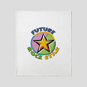 Future Rock Star Throw Blanket