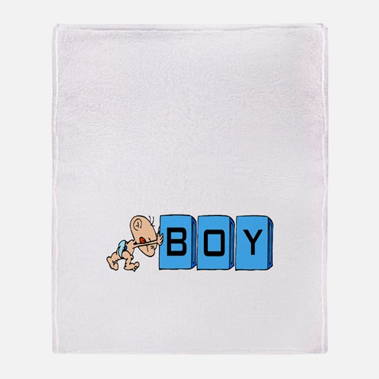 My Baby Boy Throw Blanket