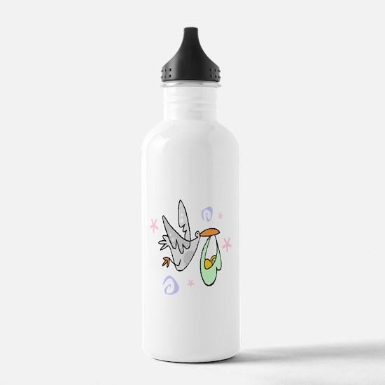Stork In Flight Water Bottle