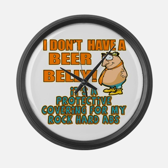 My Beer Belly Large Wall Clock
