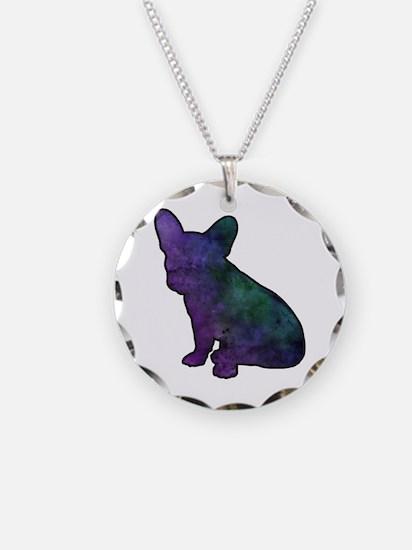 Unique French bulldog Necklace Circle Charm