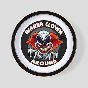 Evil Clown Wall Clock
