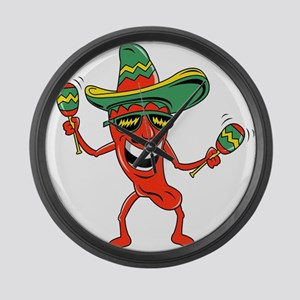 Hot Mexican Pepper Large Wall Clock