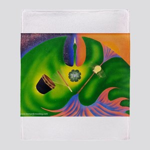 Sacred Instruments Throw Blanket