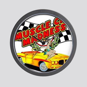 Muscle Car Madness Wall Clock