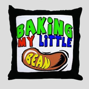 Baking My Bean Throw Pillow