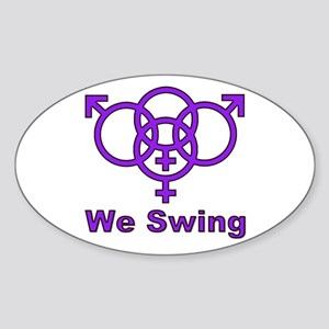 "Swinger Symbol-""We Swing"" Sticker (Oval)"