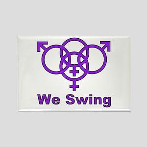 """Swinger Symbol-""""We Swing"""" Rectangle Magnet"""