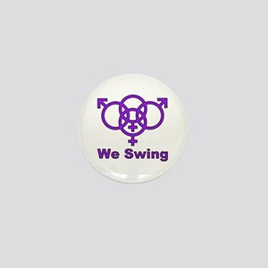 "Swinger Symbol-""We Swing"" Mini Button"