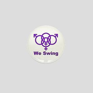 "Swinger Symbol-""We Swing"" Mini Button"