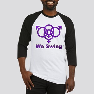 "Swinger Symbol-""We Swing"" Baseball Jersey"