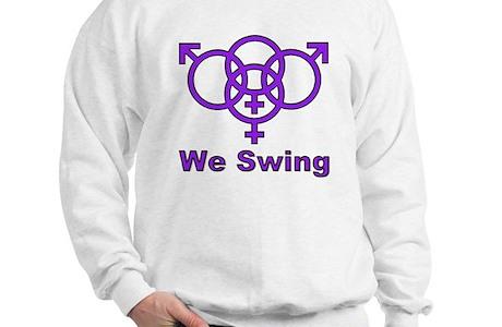 Swinger Symbol We Swing Sweatshirt