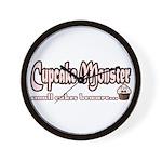 Cupcake Monster Wall Clock