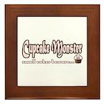 Cupcake Monster Framed Tile