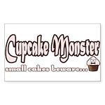 Cupcake Monster Sticker (Rectangle)