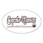 Cupcake Monster Sticker (Oval 10 pk)