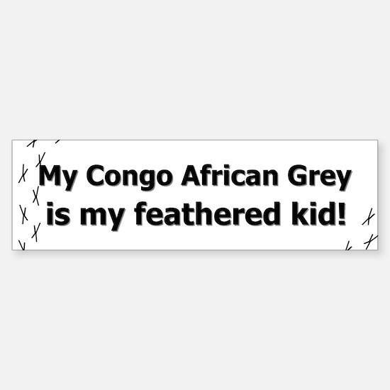 Congo African Grey Feathered Kid Bumper Bumper Bumper Sticker