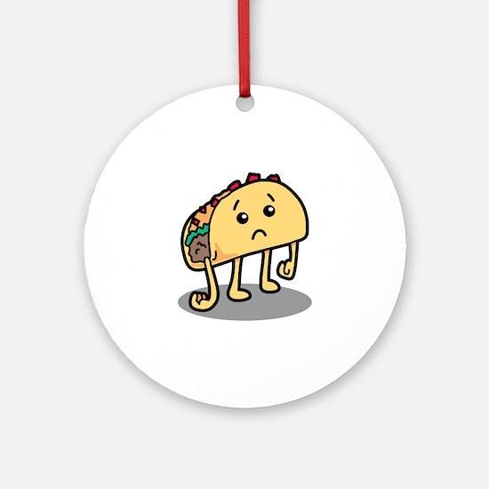Sad Taco Round Ornament