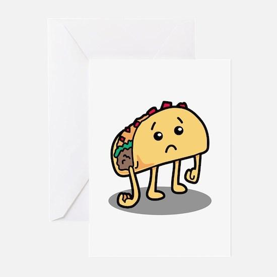 Sad Taco Greeting Cards