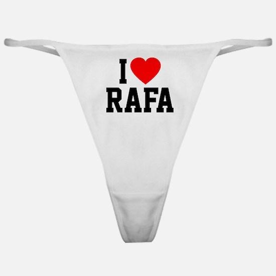 I Love Rafa Classic Thong