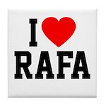 I Love Rafa Tile Coaster