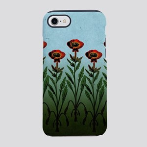Tall Red Flowers iPhone 7 Tough Case