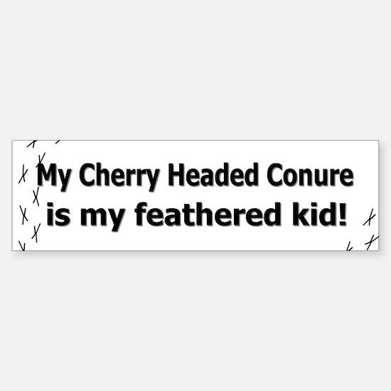 Cherry Headed Conure Feathered Kid Bumper Bumper Bumper Sticker