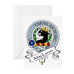 MacLaren Clan Badge Greeting Cards (Pk of 10)