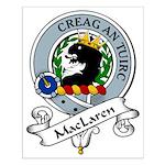 MacLaren Clan Badge Small Poster