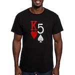 Kh5s Poker Men's Fitted T-Shirt (dark)