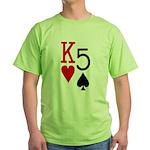 Kh5s Poker Green T-Shirt