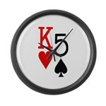 Kh5s Poker Large Wall Clock