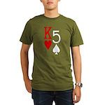 Kh5s Poker Organic Men's T-Shirt (dark)
