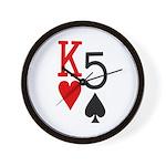 Kh5s Poker Wall Clock