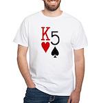 Kh5s Poker White T-Shirt
