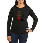Kh5s Poker Women's Long Sleeve Dark T-Shirt
