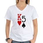 Kh5s Poker Women's V-Neck T-Shirt