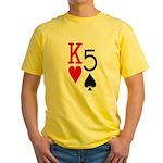 Kh5s Poker Yellow T-Shirt