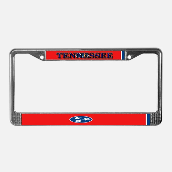 Tennessee Blank Flags License Plate Frame