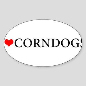 I love corndogs Oval Sticker