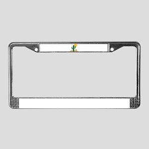 Desert cactus License Plate Frame