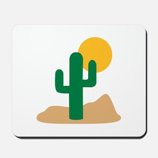 Desert cactus Mousepad