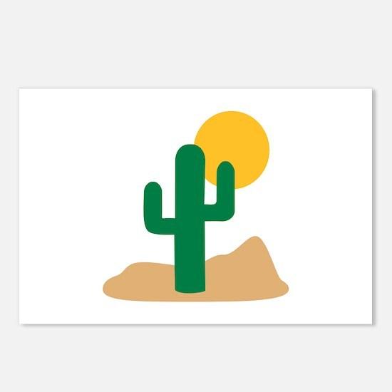 Desert cactus Postcards (Package of 8)