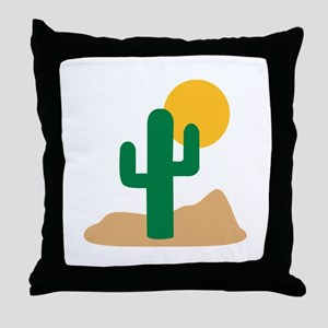 Desert cactus Throw Pillow